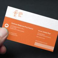 papier czerpany pomarańczowy